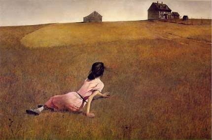 "Andrew Wyeth's ""Christina's World,"" the painting that primarily inspired Malick to make ""Days of Heaven."""
